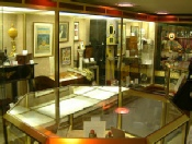 Display cabinet in The Magic Circle museum